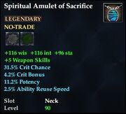 Spiritual Amulet of Sacrifice