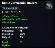 Runic Ceremonial Bracers