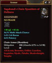 Vagabond's Chain Spaulders of Deftness
