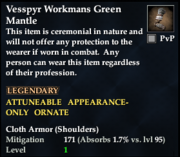 Vesspyr Workmans Green Mantle