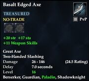 Basalt Edged Axe