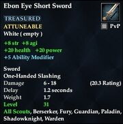 Ebon Eye Short Sword