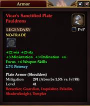 Vicar's Sanctified Plate Pauldrons