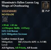 Illuminate's Fallen Leaves Leg Wraps of Overbearing