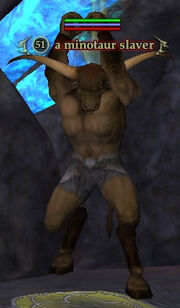 A minotaur slaver