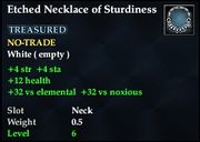 Etched Necklace of Sturdiness