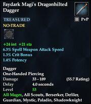 Faydark Magi's Dragonhilted Dagger