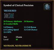 Symbol of Clerical Precision