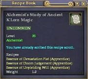 Alchemist's Study of Ancient K'Lorn Magic