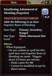 Smoldering Adornment of Mending (Superior)