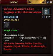 Vicious Advancer's Chain Leggings of the Shadowsneaker