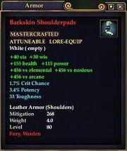 Barkskin Shoulderpads