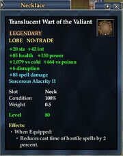 Translucent wart of the valiant