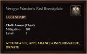Vesspyr Warrior's Red Breastplate