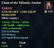 Cloak of the Tallonite Amahn
