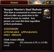 Vesspyr Warrior's Steel Barbute