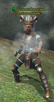 A sleetsaber scout
