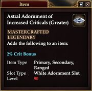 Astral Adornment of Increased Criticals (Greater)