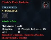 Cleric's Plate Barbute
