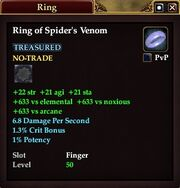 Ring of Spider's Venom