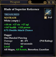 Blade of Superior Reticence