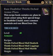 Rare Deathfist Thistle Etched Armor Plans