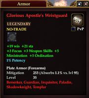 Glorious Apostle's Wristguard