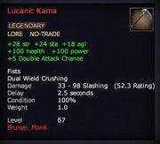 Lucanic Kama