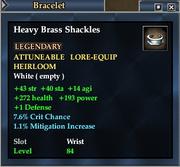 Heavy Brass Shackles