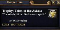 Trophy: Talon of the Aviaks