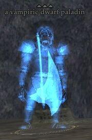 A vampiric dwarf paladin