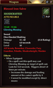 Blessed Iron Sabre
