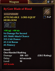 Ry'Gorr Blade of Blood