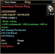 Snowfang Warrior Ring