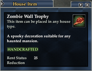 Zombie Wall Trophy