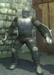 Carbonite Brigandine Armor, Equipped