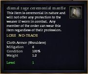 Dismal rage ceremonial mantle