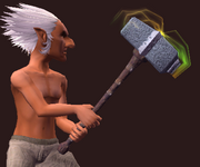 Ancient War Hammer of the Awakened (Equipped)