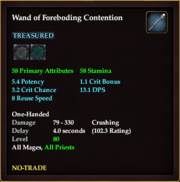Wand of Foreboding Contention