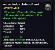 Orc centurion chainmail coif