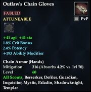 Outlaw's Chain Gloves (Fabled)