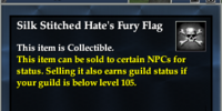 Silk Stitched Hate's Fury Flag