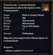 Translocate Commonlands