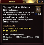 Vesspyr Warrior's Elaborate Red Pauldrons