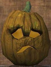 A sad jack-o-lantern (Visible)