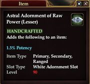 Astral Adornment of Raw Power (Lesser)