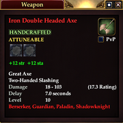 Iron Double Headed Axe