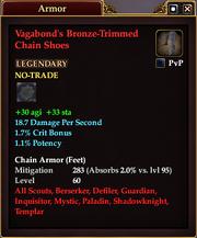Vagabond's Bronze-Trimmed Chain Shoes