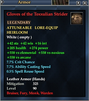 Gloves of the Toxxulian Strider