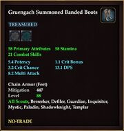 Gruengach Summoned Banded Boots